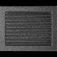 Решітка чорно-срібна з жалюзями 22x30