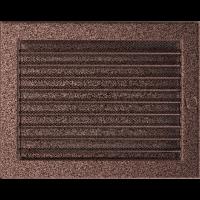 Решітка мідна з жалюзями 22x30