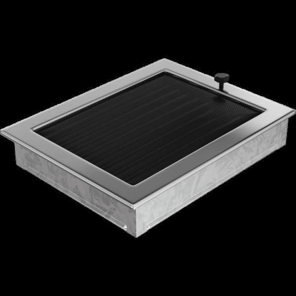 Решітка нікель з жалюзями 22x30