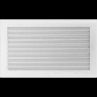 Решітка біла з жалюзями 22x37