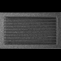 Решітка чорно-срібна з жалюзями 22x37