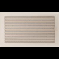 Решітка кремова з жалюзями 22x37