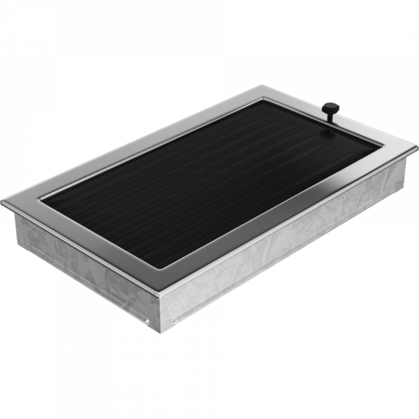 Решітка нікель з жалюзями 22x37