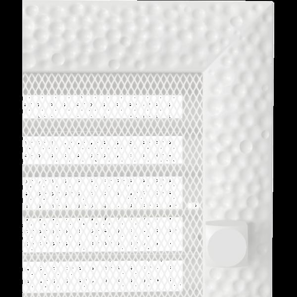 Решітка Venus біла з жалюзями 17x37