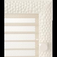 Решітка Venus кремова з жалюзями 17x17
