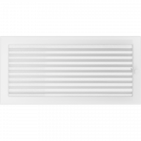 Решітка біла з жалюзями 22x45