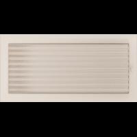 Решітка кремова з жалюзями 22x45