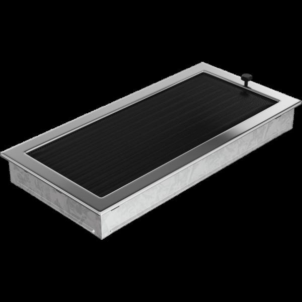 Решітка нікель з жалюзями 22x45
