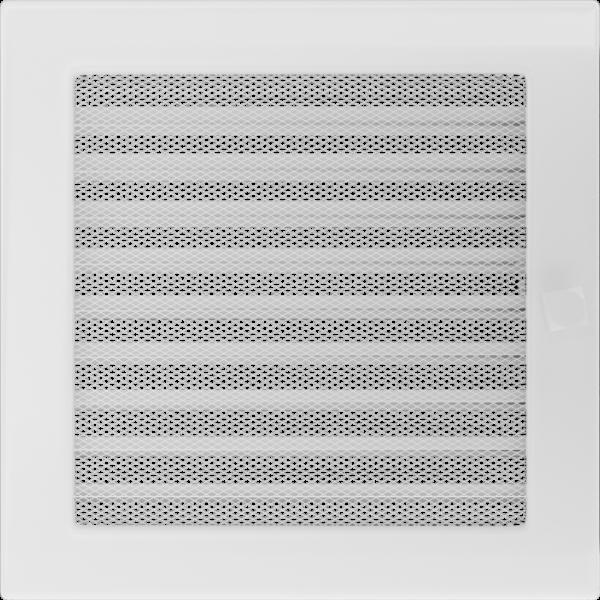 Решітка біла з жалюзями 22x22