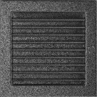 Решітка чорно-срібна з жалюзями 22x22