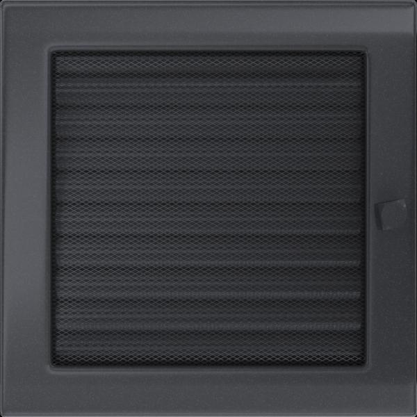 Решітка графітова з жалюзями 22x22