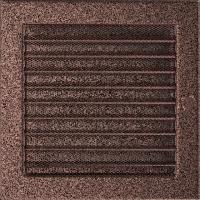 Решітка мідна з жалюзями 22x22