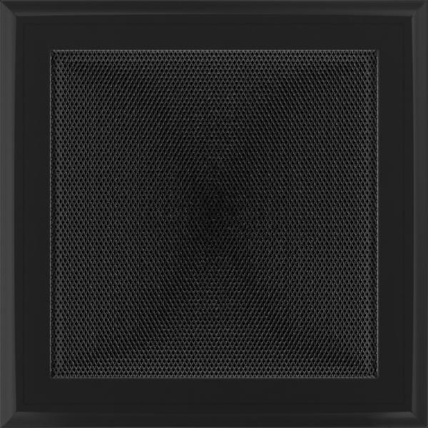 Решітка Oskar чорна 22x22