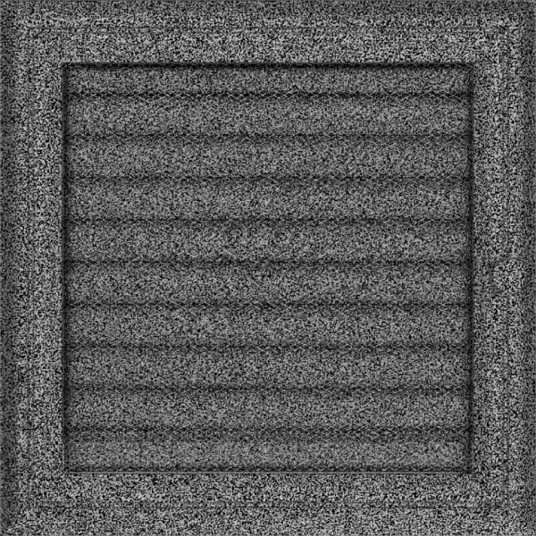 Решітка Oskar чорно-срібна з жалюзями 22x22