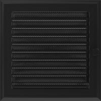 Решітка Oskar чорна з жалюзями 22x22