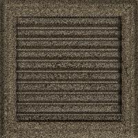 Решітка Oskar чорно-золота з жалюзями 22x22