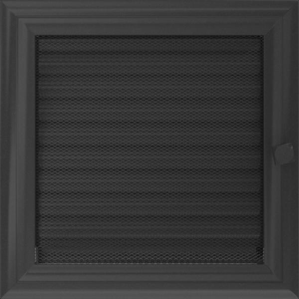 Решітка Oskar графітова з жалюзями 22x22