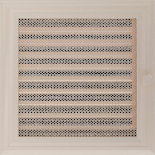 Решітка Oskar кремова з жалюзями 22x22