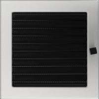 Решітка шліфована з жалюзями 22x22