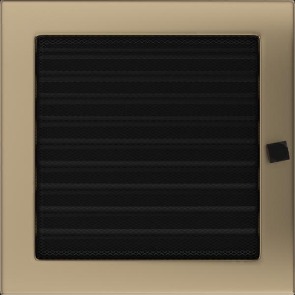 Решітка золото гальванічне з жалюзями 22x22