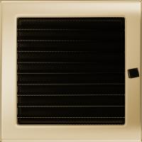 Решітка позолочена з жалюзями 22x22
