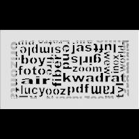 Решетка ABC белая 17x30