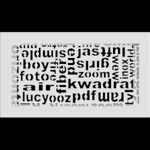 Решітка ABC біла 17x30