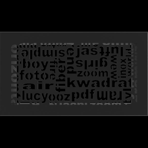 Решітка ABC чорна 17x30