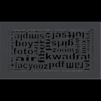 Решетка ABC графитовая 17x30