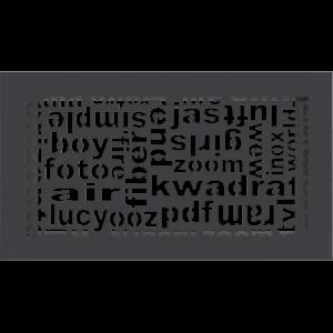 Решітка ABC графітова 17x30