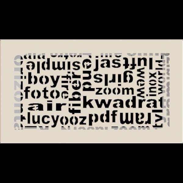 Решітка ABC кремова 17x30