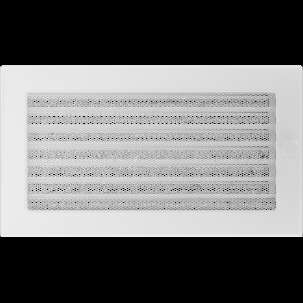 Решітка біла з жалюзями 17x30