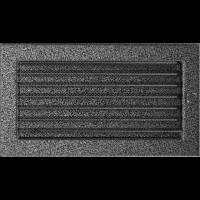 Решітка чорно-срібна з жалюзями 17x30
