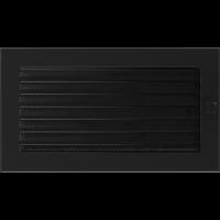 Решітка чорна з жалюзями 17x30
