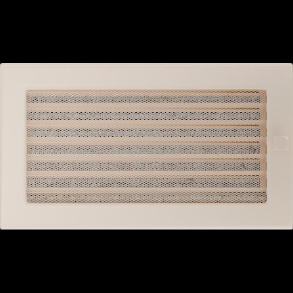 Решітка кремова з жалюзями 17x30