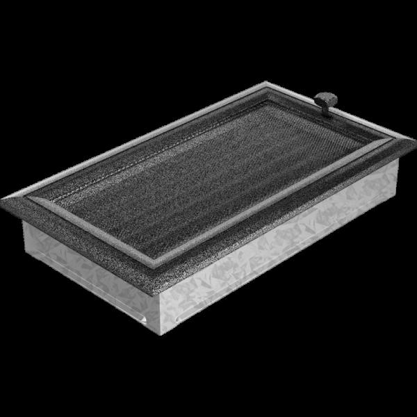 Решітка Oskar чорно-срібна з жалюзями 17x30