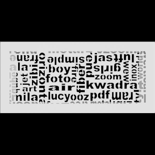 Решітка ABC біла 17x37