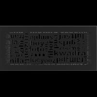 Решетка ABC черная 17x37