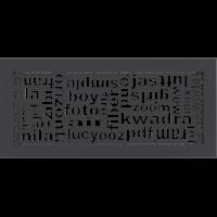 Решетка ABC графитовая 17x37