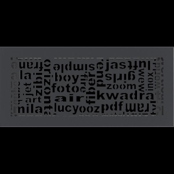 Решітка ABC графітова 17x37