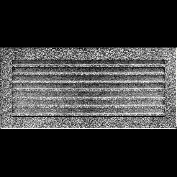Камінна решітка Решітка FRESH чорно-срібна 17x37 Kratki