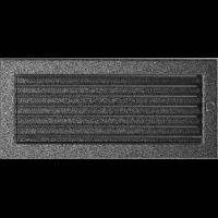Решітка чорно-срібна з жалюзями 17x37