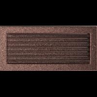 Решітка мідна з жалюзями 17x37