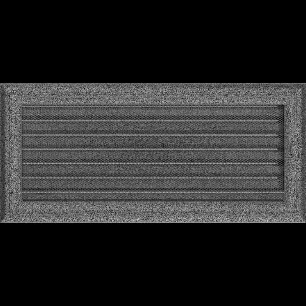 Решітка Oskar чорно-срібна з жалюзями 17x37