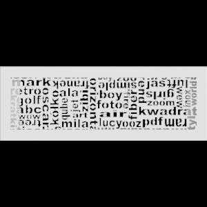 Решітка ABC біла 17x49