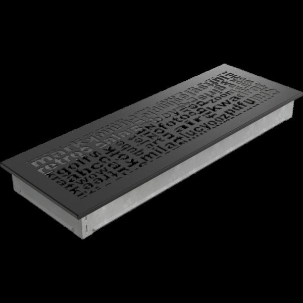 Решітка ABC чорна 17x49