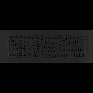 Решетка ABC черная 17x49