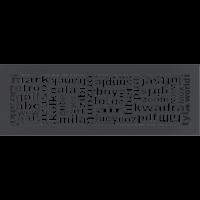 Решетка ABC графитовая 17x49