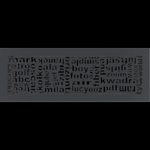 Решітка ABC графітова 17x49