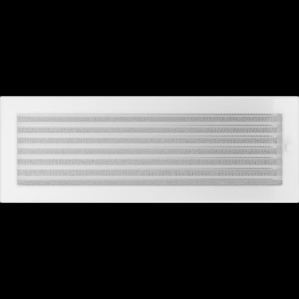 Решітка біла з жалюзями 17x49